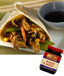 "Hint:   Have plenty of Hoisin sauce. The brand pictured tastes great or you can prepare your own with the recipe below. For gluten free eating, also try the rice flour ""pancakes."""