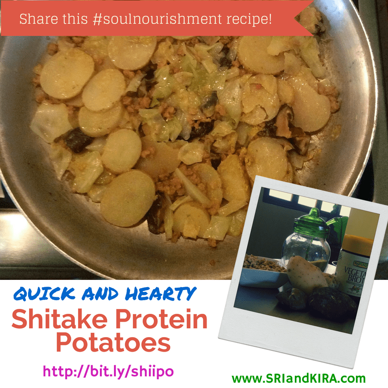 Shitake Protein Potatoes recipe