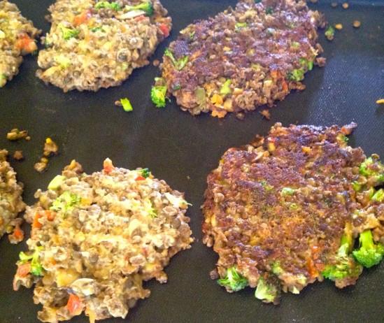 cook veggie burger