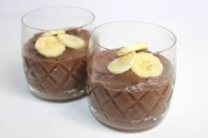 Cosmic Vegan Banana Chocolate Mousse