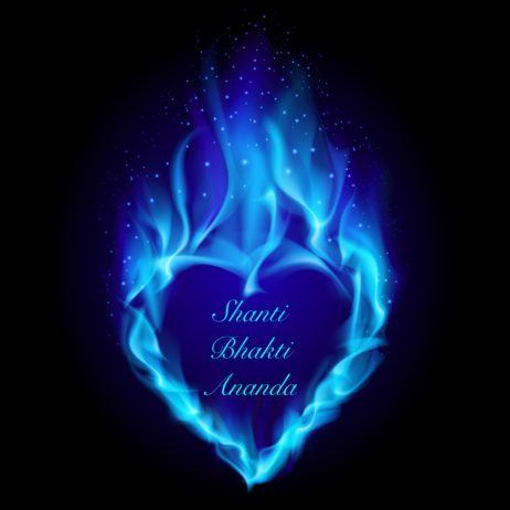 10360583 - heart in blue fire. illustration on black background for design